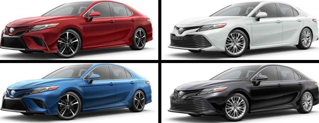 2019 Toyota Camry in Red, White, Blue, and Black Paint Colors
