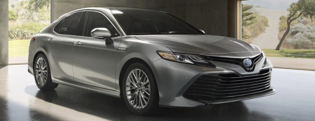 2019 Toyota Camry Front View of Gray Exterior