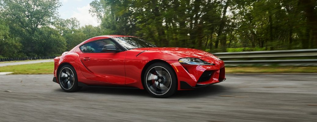 2020 Toyota Supra Side View of Red Exterior