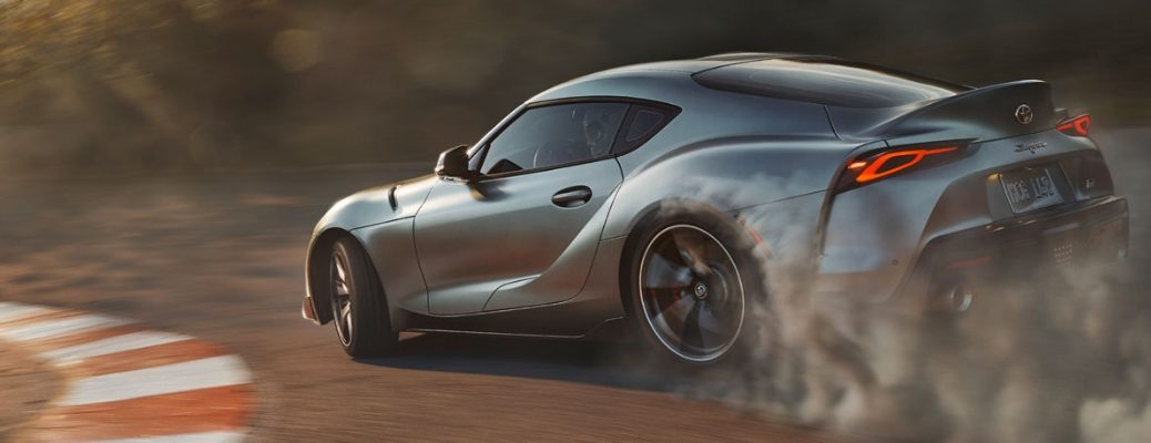 2020 Toyota Supra Side View of Gray Exterior