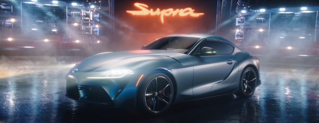 2020 Toyota Supra Side View of Silver Exterior