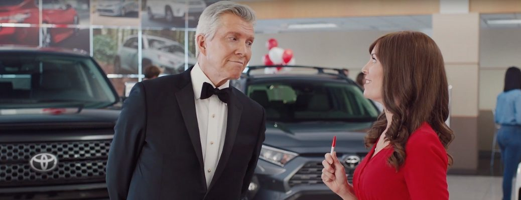 Screenshot of Toyota 'Ring Announcer' Commercial
