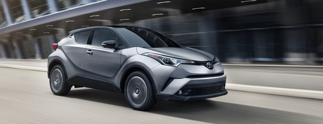 Grey 2019 Toyota C-HR Driving