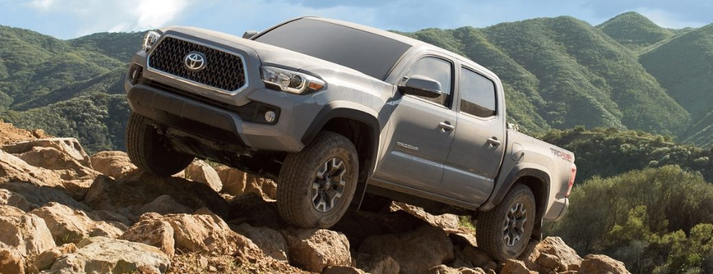 2019 Toyota Tacoma on rocks