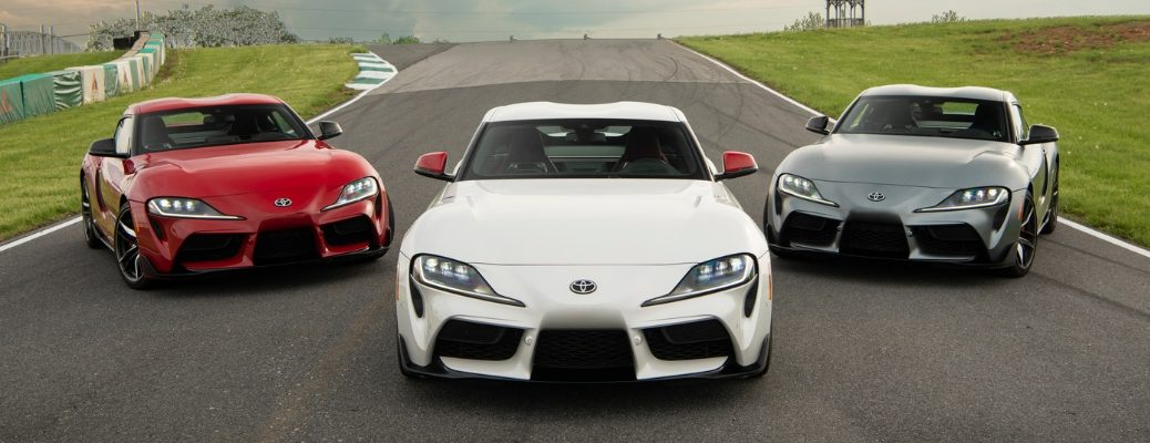 Three 2020 Toyota GR Supra models