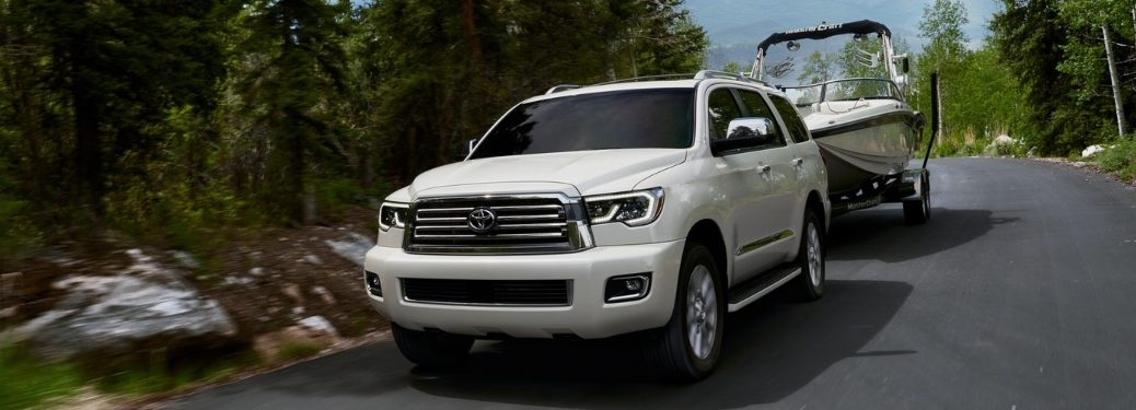 2020 Toyota Sequoia Towing a Boat