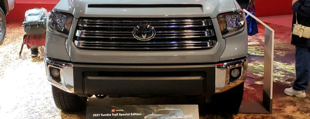 A photo of the grille used by the 2021 Toyota Tundra Trail.