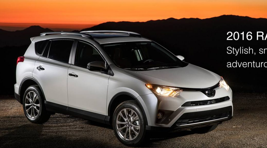 2016 toyota rav4 IIHS top safety pick award pre collision system
