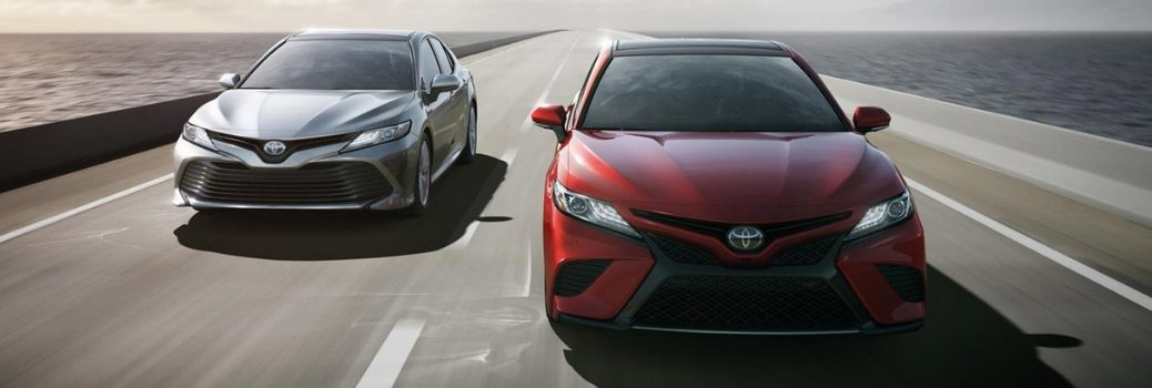 2019 Toyota Camry driving down road