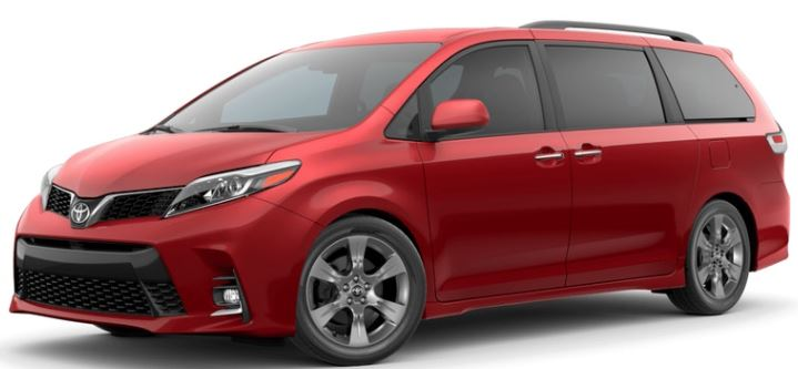 2019 Toyota Sienna Salsa Red Pearl