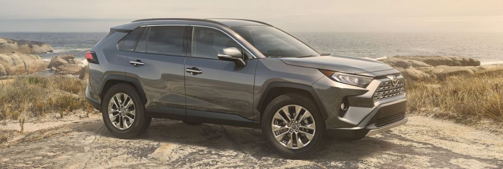 2019 Toyota RAV4 parked on a cliff