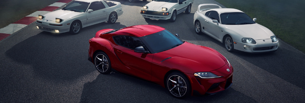 2020 Toyota Supra parked with previous versions