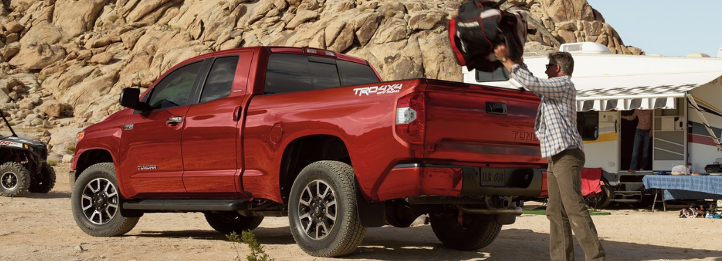 2019 Toyota Tundra parked outside on the dirt