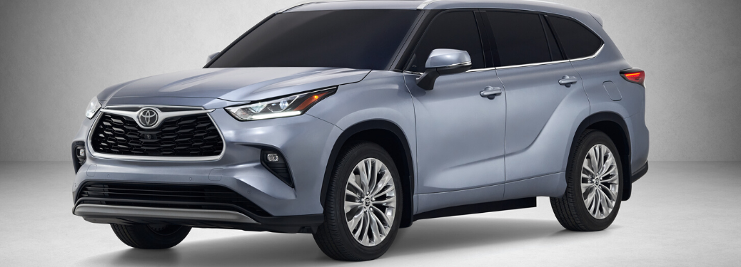 2020 Toyota Highlander parked in grey and white