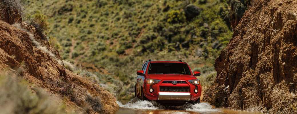2020 Toyota 4Runner driving in water