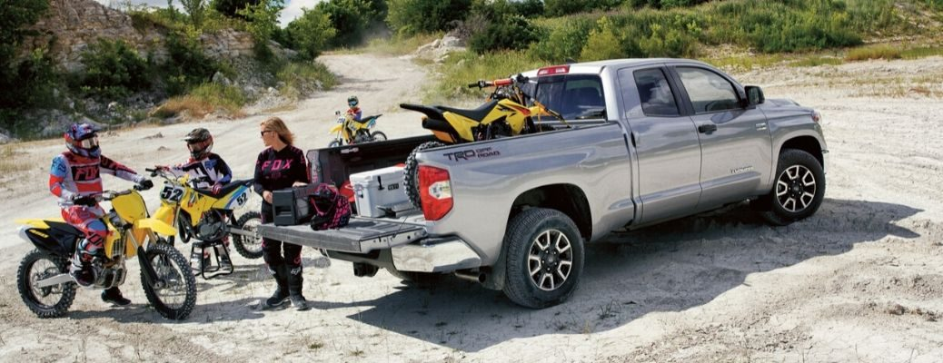 2020 Toyota Tundra parked outside on the beach