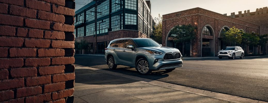 2020 Toyota Highlander parked on the curb