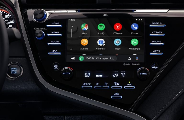 2020 Toyota Camry touchscreen view