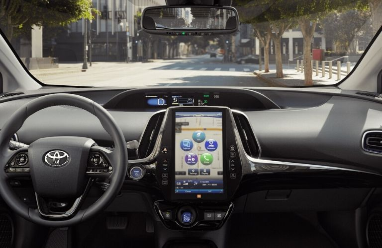 2020 Toyota Prius interior touchscreen view