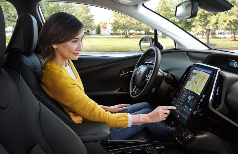 2020 Toyota Prius front interior view with driver