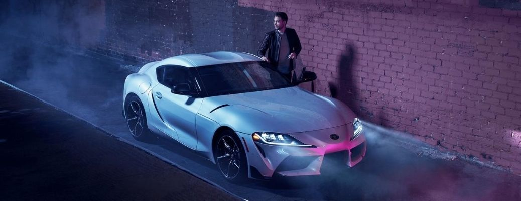 2021 Toyota Supra parked near the side of a street
