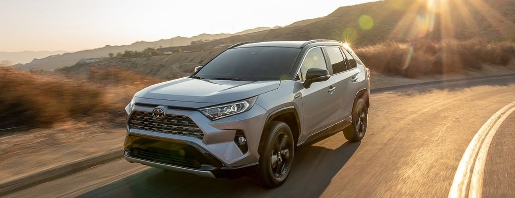 2021 Toyota RAV4 driving front view