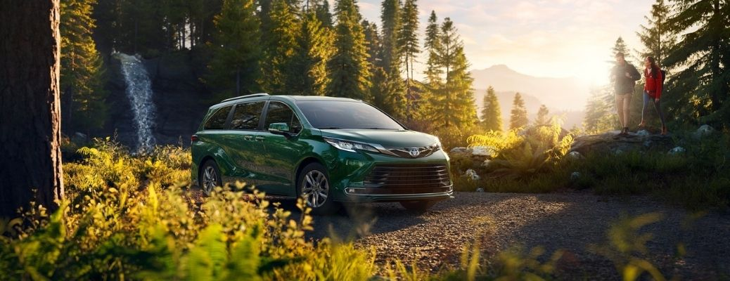 2021 Toyota Sienna parked outside front view