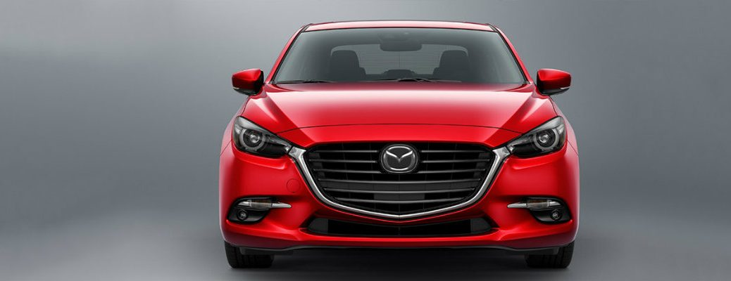 red mazda3 front view