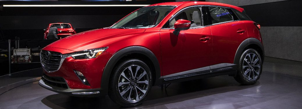 left side of red mazda cx-3