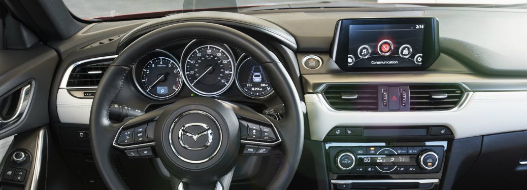 mazda steering wheel and dash