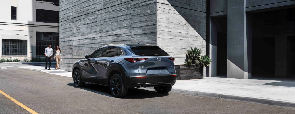 2021 Mazda CX-30 in front of a building