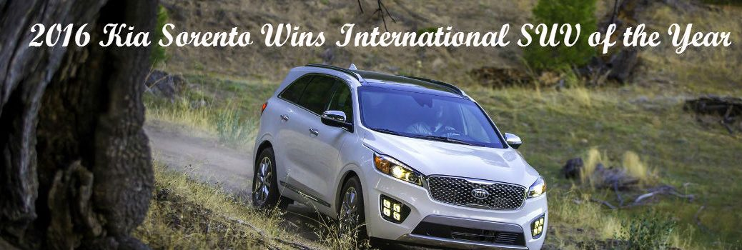 2016 Kia Sorento international SUV of the year Kia of Irvine, irvine CA