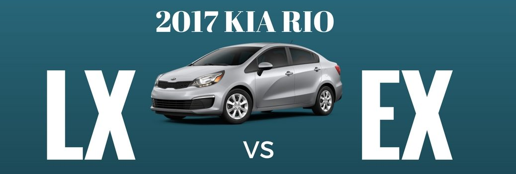 What's the Difference Between the 2017 Kia Rio LX and Kia Rio EX Trims?