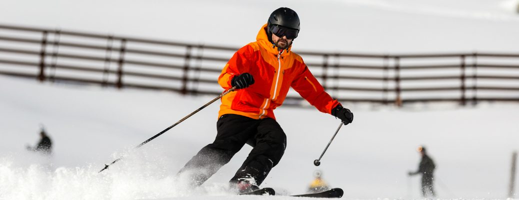 Skier Going Down the Slope