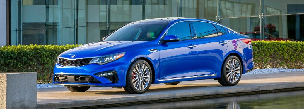2019 Kia Optima side blue exterior