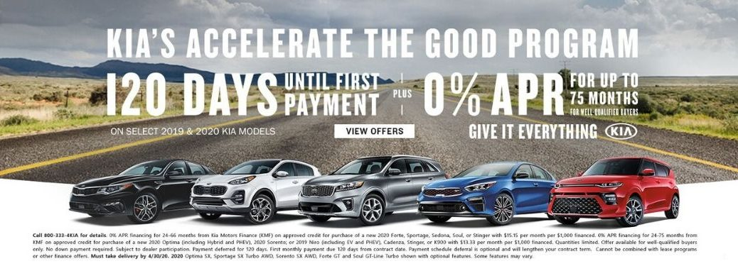 Kia's Accelerate the Good program incentives banner
