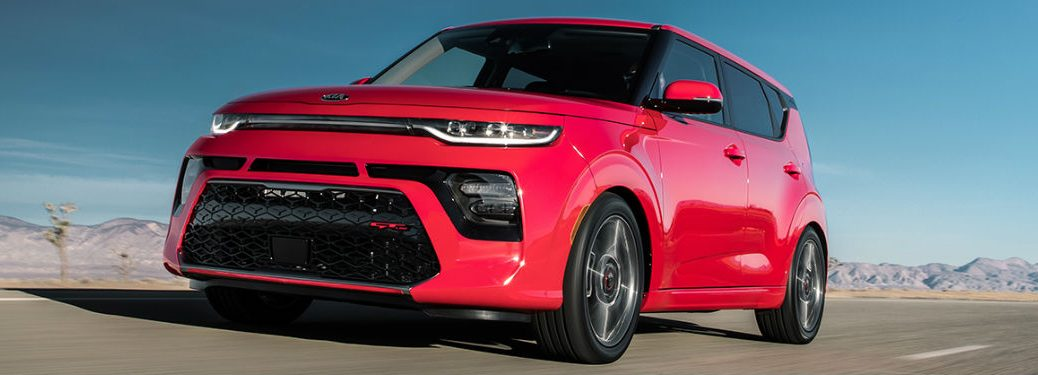 2021 Kia Soul driving on a road