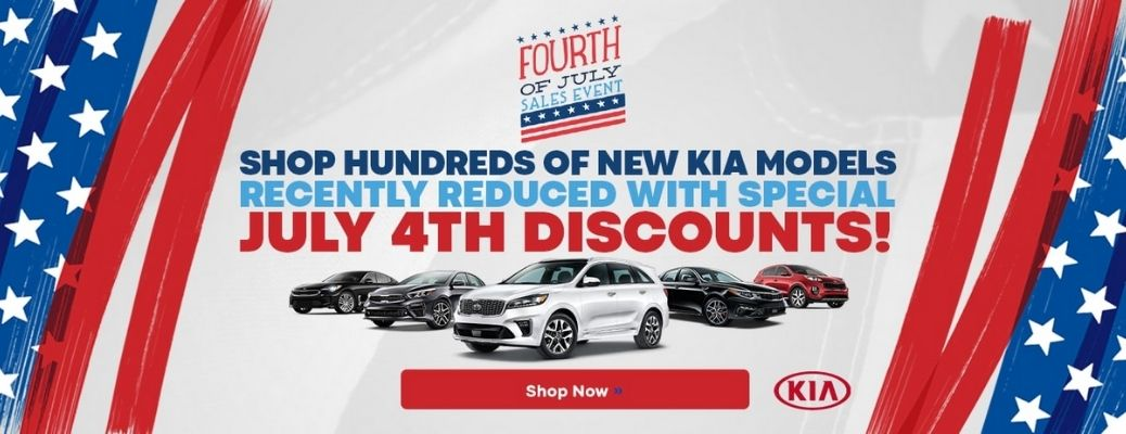 4th of July special discounts on Kia vehicles