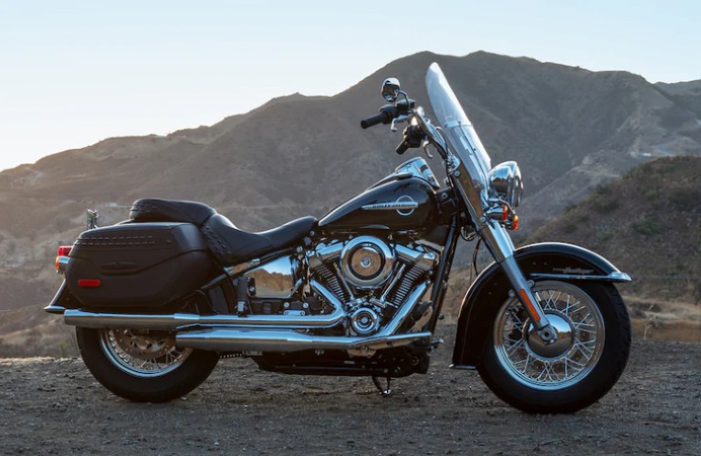 An image of a 2020 harley Davidson Heritage Classic, which is considered a touring cruiser.