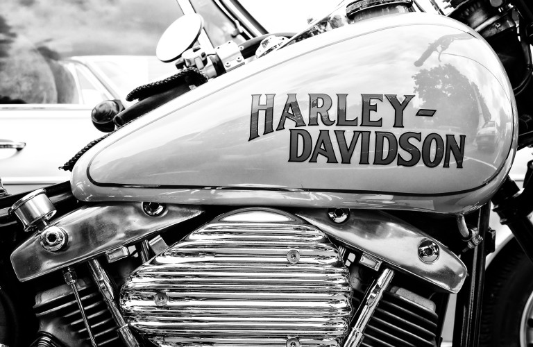An air-cooled engine system on a Harley Davidson, a brand notorious for air-cooled engines for over 110 years.