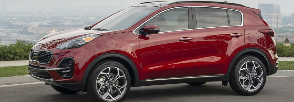What colors are available on the Kia Sportage?