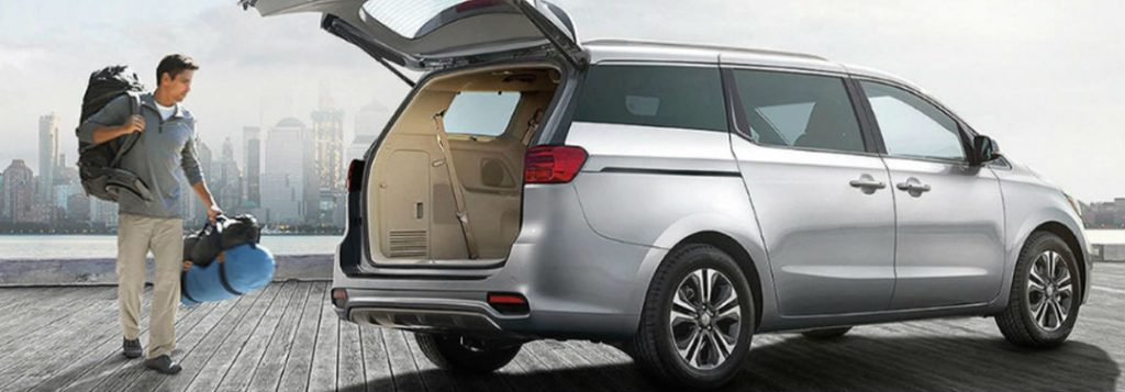 2021 Kia Sedona cargo area in gray