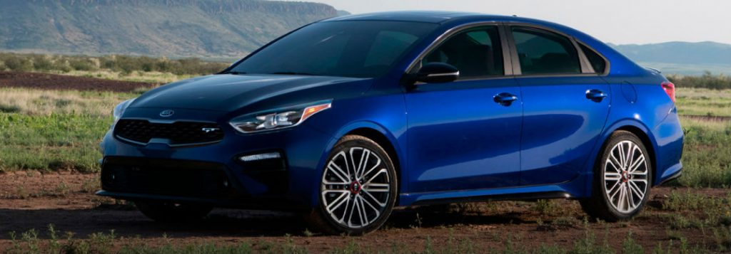 2021 Kia Forte in blue