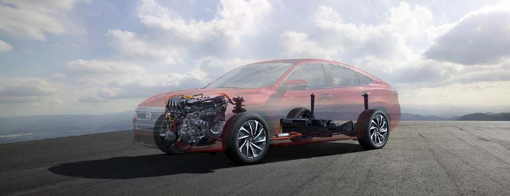 2021 Honda Insight see through showing engine transmission and drivetrain