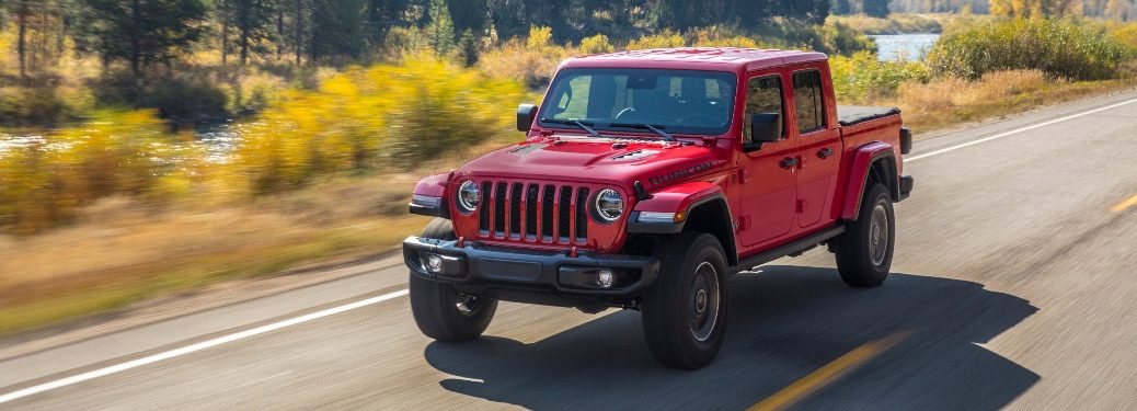 2020 Jeep Gladiator going down the road