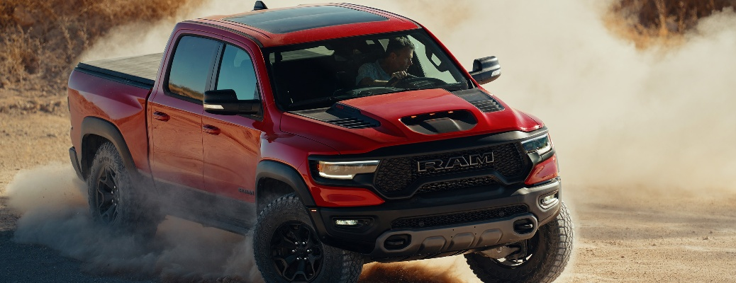 2021 RAM TRX kicking up dust