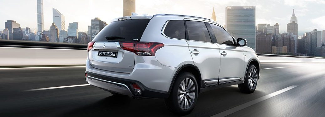 2020 Mitsubishi Outlander driving on a road