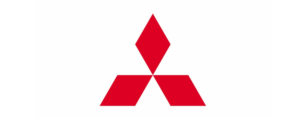 Mitsubishi logo red on white isolated