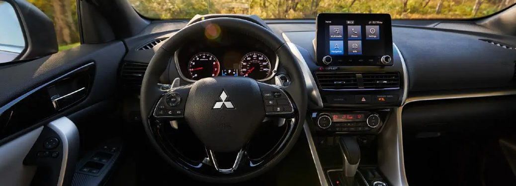eclipse cross steering wheel and dashboard