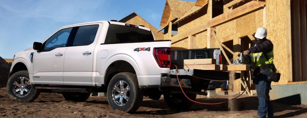 2021 Ford F-150 parked at a job site